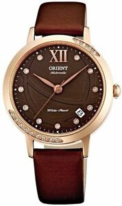 NWT ORIENT Fashionable Automatic Sapphire Crystal Rose Gold Brown Watch ER2H002T