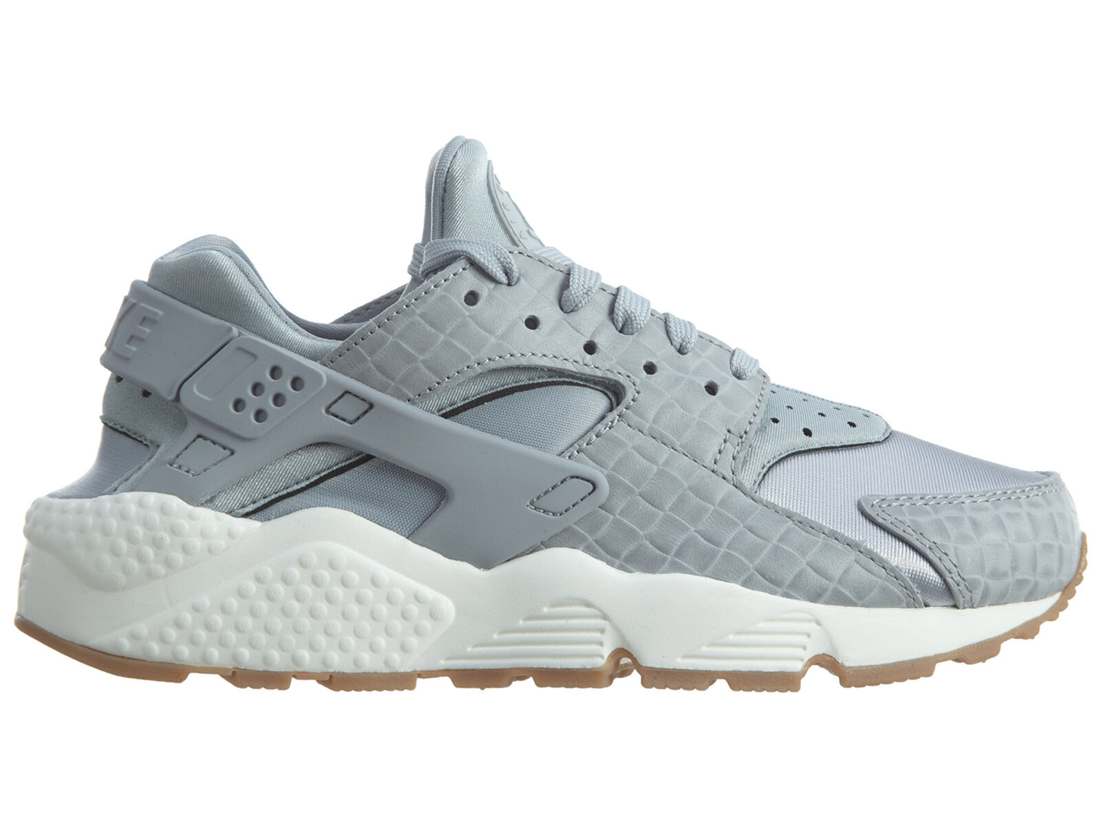Nike Air Huarache Run Premium Womens 683818-012 Grey Gum Running Shoes Size 7