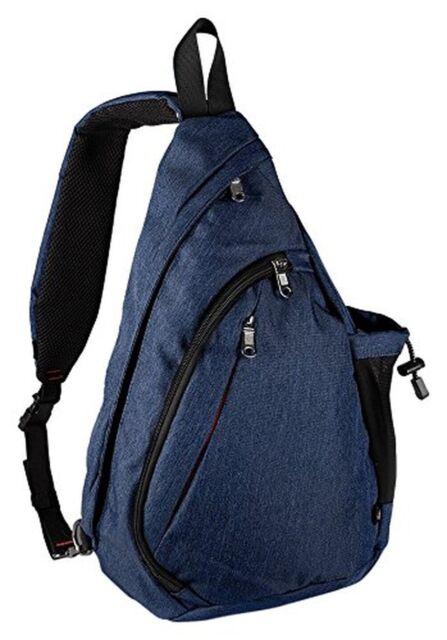 123d1f63b2f Outdoormaster Sling Bag Small Crossbody Backpack for Men & Women Dark Blue  Bags