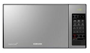 New Samsung Ge83x Microwave Black Glass Mirror 23 L