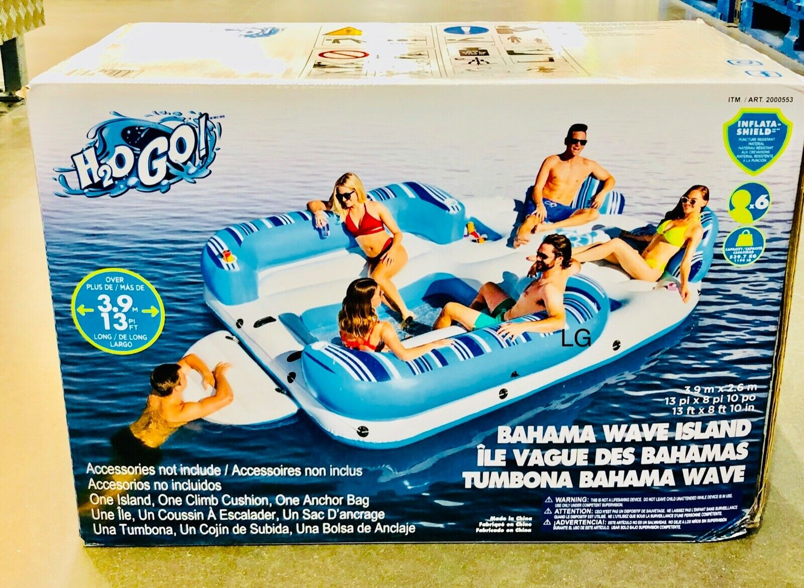 Hydro-Force 13ft (396cm) 6 Person Bahama Wave Inflatable Island H20 GO