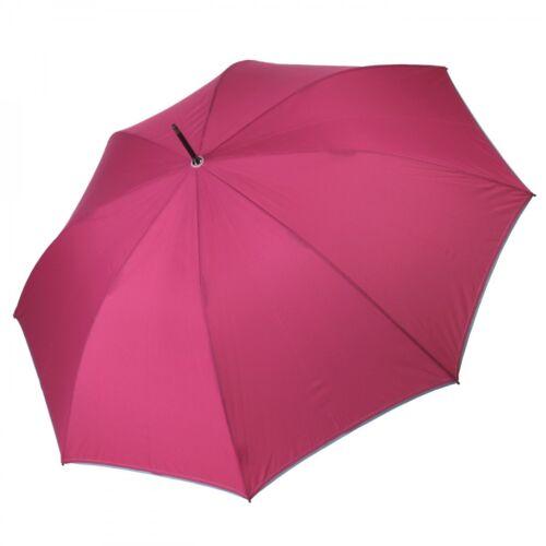 Perletti Stockschirm Regenschirm Damenschirm Automatik Uni pink