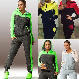 Image is loading Womens-Jogger-Casual-Tracksuit-Hoodies-Sweatshirt-Pants -2Pcs- 1875cd4b4