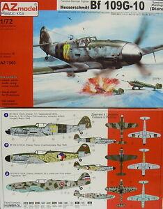 Bf 109 G-10 (Diana) Spécial Marquage , AZ Model, 1:72, Modèle en plastique kit