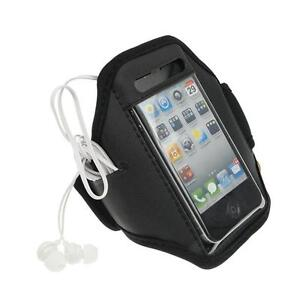 Black-iPhone-4-4S-Sports-Strong-ArmBand-Padded-Soft-Cover-With-Earphone-Pocket