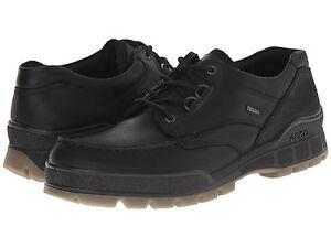 Detalles acerca de Ecco TRACK bajo con cordones Cuero Negro II Impermeable Gore Tex Comodidad Zapatos Oxford mostrar título original