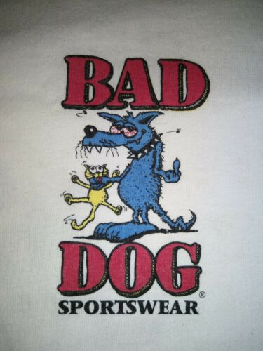 Vintage 1993 XL Bad Dog Sportswear Shirt - SKATE S