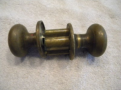 "Antique Glass Door Knobs With Hardware Lot Of Ten ""12 Point"""