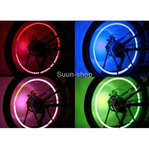 4 X RGB LED For Car Honda Wheel Tyre Air Valve Stem Caps Decoration Light Lamp