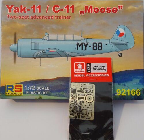 "Yak-11//C-11 /"" Orignal /"" /& Zubehoerset De Brengun Pro-Pack Neuf Rs-Model 1:72"