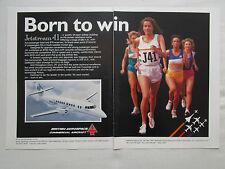 10/1990 PUB BRITISH AEROSPACE JETSTREAM 41 PAN AM ATHLETISME ORIGINAL AD