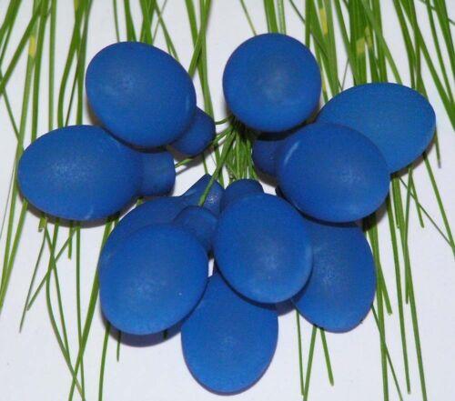10`er Set EDEL Glaspicks Ei blau mit Draht zum verarbeiten 35 mm PREISTIP x 4955