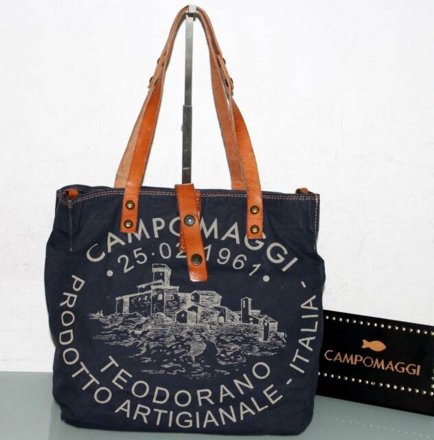 price reduced superior quality on feet at CAMPOMAGGI Beuteltasche Shopper Canvas&Leder - Made in Italy - Neu & OVP!