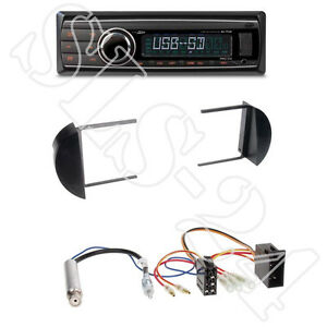 Caliber-RMD212-USB-SD-Radio-VW-New-Beetle-1-DIN-Blende-black-ISO-Adapter-Set