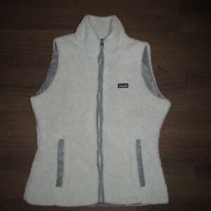 Patagonia-Light-Gray-Los-Lobos-Fleece-Reversible-Vest-Women-039-s-Med-CH13-L