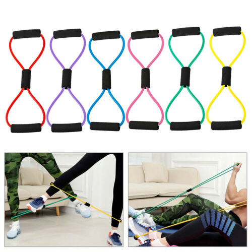 Yoga Gym Fitness Resistance 8 Word Chest Expander Rope Home Workout Exercise