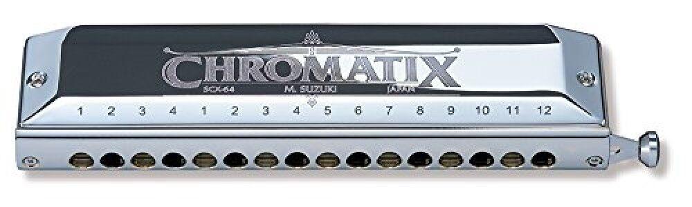 Suzuki SCX-64 Chromatix Serie Harmonica Key of C 64 Reeds 16 Holes F S