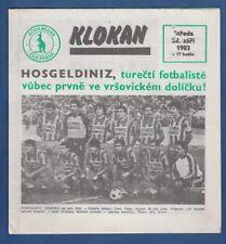 Orig.PRG   EC 1   1983/84   BOHEMIANS PRAG - FENERBAHCE ISTANBUL  !!  SELTEN