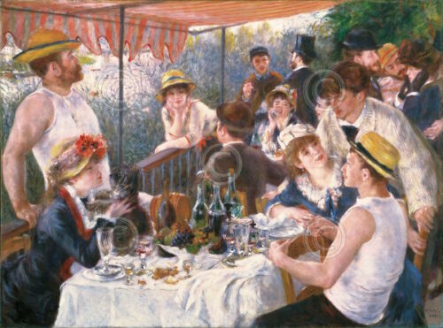 Luncheon of the Boating Party  Pierre-Auguste Renoir Impressionist Canvas 16x12