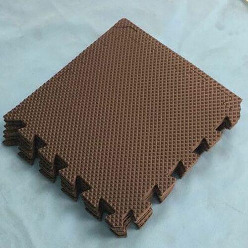 10PCS Interlocking Floor Mat EVA Foam Tiles Wood Grain Gym Exercise Mat Flooring