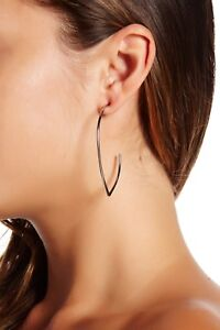 a8f91a6f1 Image is loading Nordstrom-14th-and-Union-Open-teardrop-hoop-earrings-