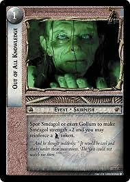 Lord of the Rings CCG Bloodlines 13C54 Out of All Knowledge X2 LOTR TCG Mint