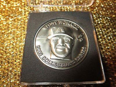 Tony Womack Arizona Diamondbacks World Series Championship Silber Token Neu Sport