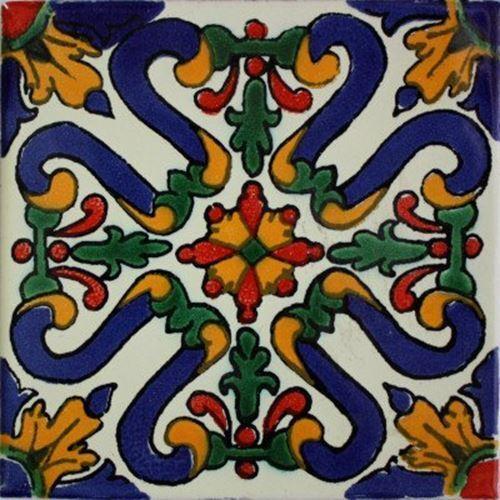 2x2 36 pcs Atessa Talavera Mexican Tile