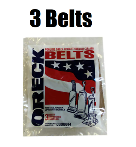 Oreck Upright Vacuum Cleaner Belts 3 Pk Genuine Part # 030-0604 0300604