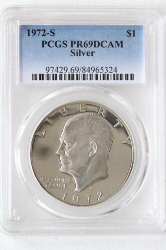 1972-S Silver Ike Dollar $1 Eisenhower PR69DCAM PCGS Certified Graded Slabbed