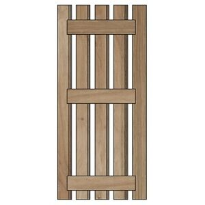 Internal Cottage Door Kit European Oak - Hand Crafted (Rose Head Nails)