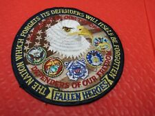 Fallen Heroes Defenders of Freedom Lapel Hat Pin Eagle Support Our Troops