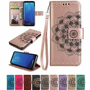 Luxury-PU-Leather-Wallet-Case-Flower-Magnetic-Flip-Cover-For-Samsung-Galaxy-S