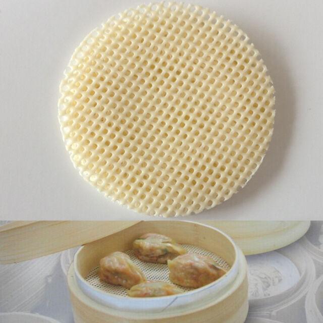 9.8cm Dia Silicone Steamer Mat Dumplings Cooking Sheet Dim Sum Buns Steaming Pad