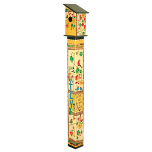 Details About Fly With All Your Heart 5 Birdhouse Garden Art Pole Painted Peace Free Ship