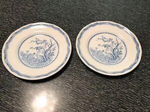 Details about Two Masons Quail Blue Salad Plates