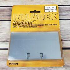 New Rolodex Necessities 50 Card Protectors Q67650as Tpb24clr 2 14 X 4 Clear