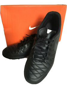 Nike-majestry-Tf-Baskets-Chaussures-De-Football-Noir-Garcons-Homme-Taille-8-42-5-utilise-une-fois
