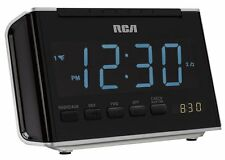 RCA RC46R AM/FM Alarm Clock Radio with Large Blue LED Display