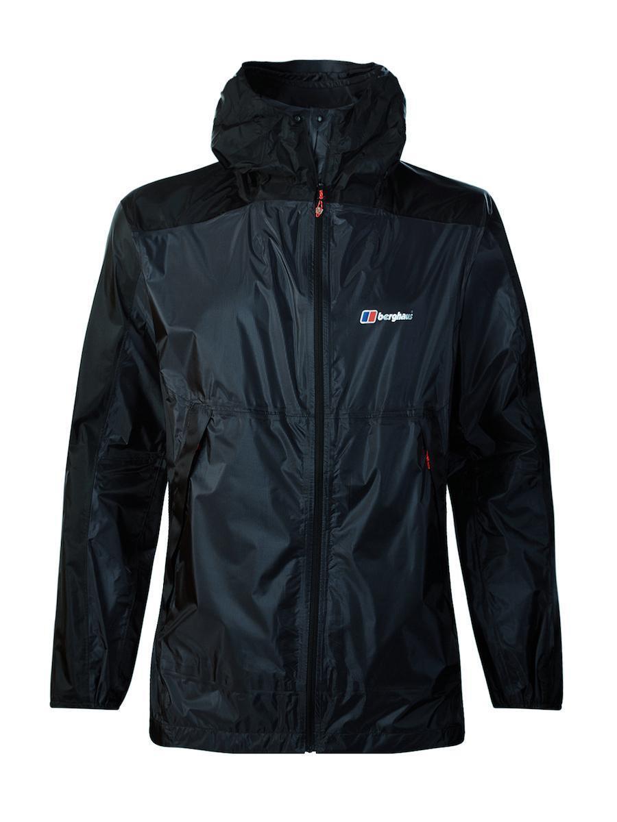 Berghaus Para Hombre Fast Caminata Impermeable Transpirable Ligero Abrigo Chaqueta-Carbono