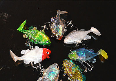 4PCS Fishing soft Replica Fish Lure Baits Hook T tail 25cm//75g