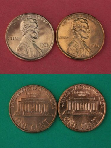 1988 P D Lincoln Memorial Cents From Uncirculated Mint Sets Combined Shipping
