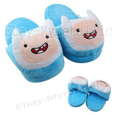 Adventure Time With Finn Soft Plush Stuffed Slipper one Pair