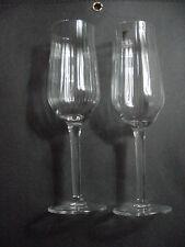 2 Luigi Bormioli Light and Music Champagne Wine Toasting Flutes Glasses Stems