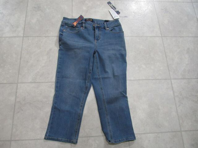 New Women/'s Seven 7 Denim Capri Jeans 4-way Stretch Skinny White 10 12 14