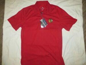 premium selection ac294 23ef3 Level Wear NHL Chicago Blackhawks Polo Shirt, Size M - Red
