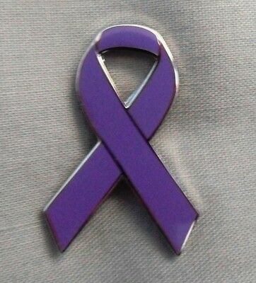 ***NEW*** Fibromyalgia Awareness ribbon enamel badge. Pain, Charity.