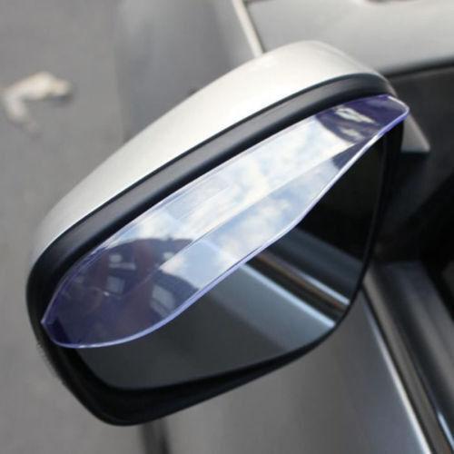 Car Rear view Side Mirror Rain Board Eyebrow Cover Shield Sun Visor Shade 1pair