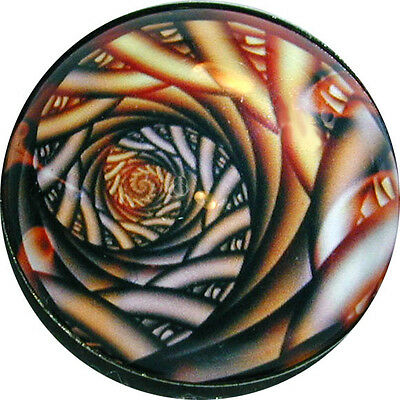 1 inch ABST 05 FREE US SHIPP Gorgeous Crystal Dome Button Abstract Spiral Art