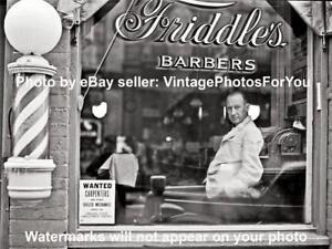 Old-Antique-039-41-Virginia-Barber-Pole-Shop-Hair-Cut-Hot-Razor-Shave-Photo-Picture